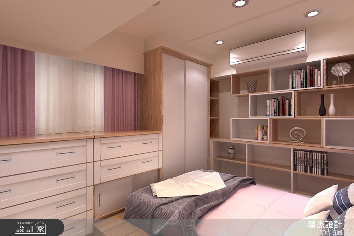 48坪新成屋(5年以下)_混搭風臥室案例圖片_鴻杰室內設計_鴻杰_06之14