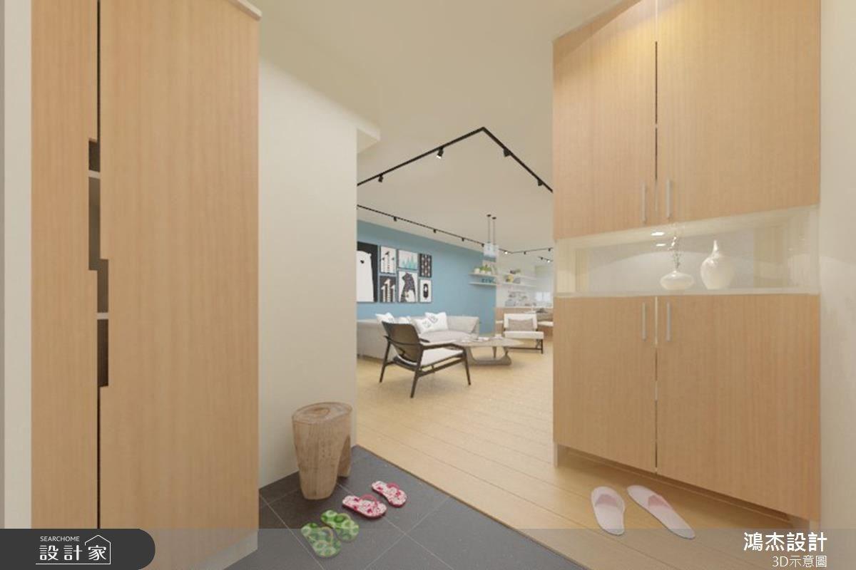 38坪老屋(16~30年)_北歐風玄關案例圖片_鴻杰室內設計_鴻杰_08之1