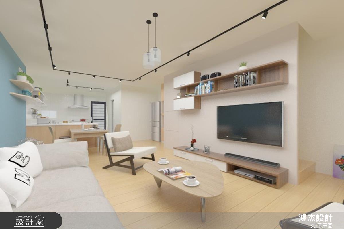 38坪老屋(16~30年)_北歐風客廳案例圖片_鴻杰室內設計_鴻杰_08之2