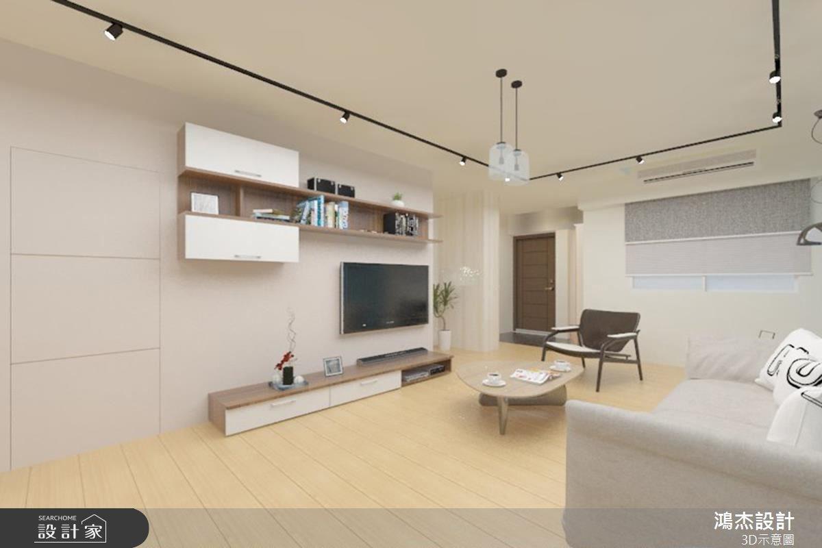 38坪老屋(16~30年)_北歐風客廳案例圖片_鴻杰室內設計_鴻杰_08之3