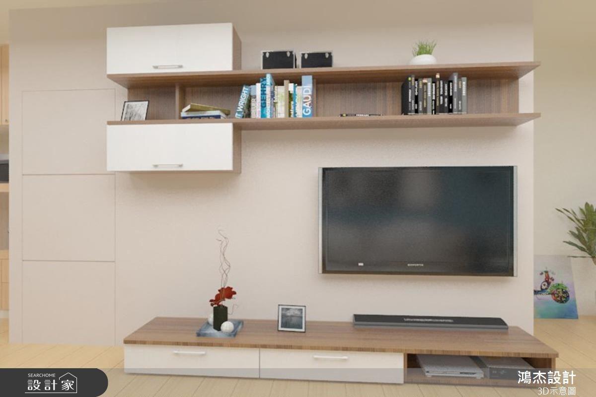 38坪老屋(16~30年)_北歐風客廳案例圖片_鴻杰室內設計_鴻杰_08之5