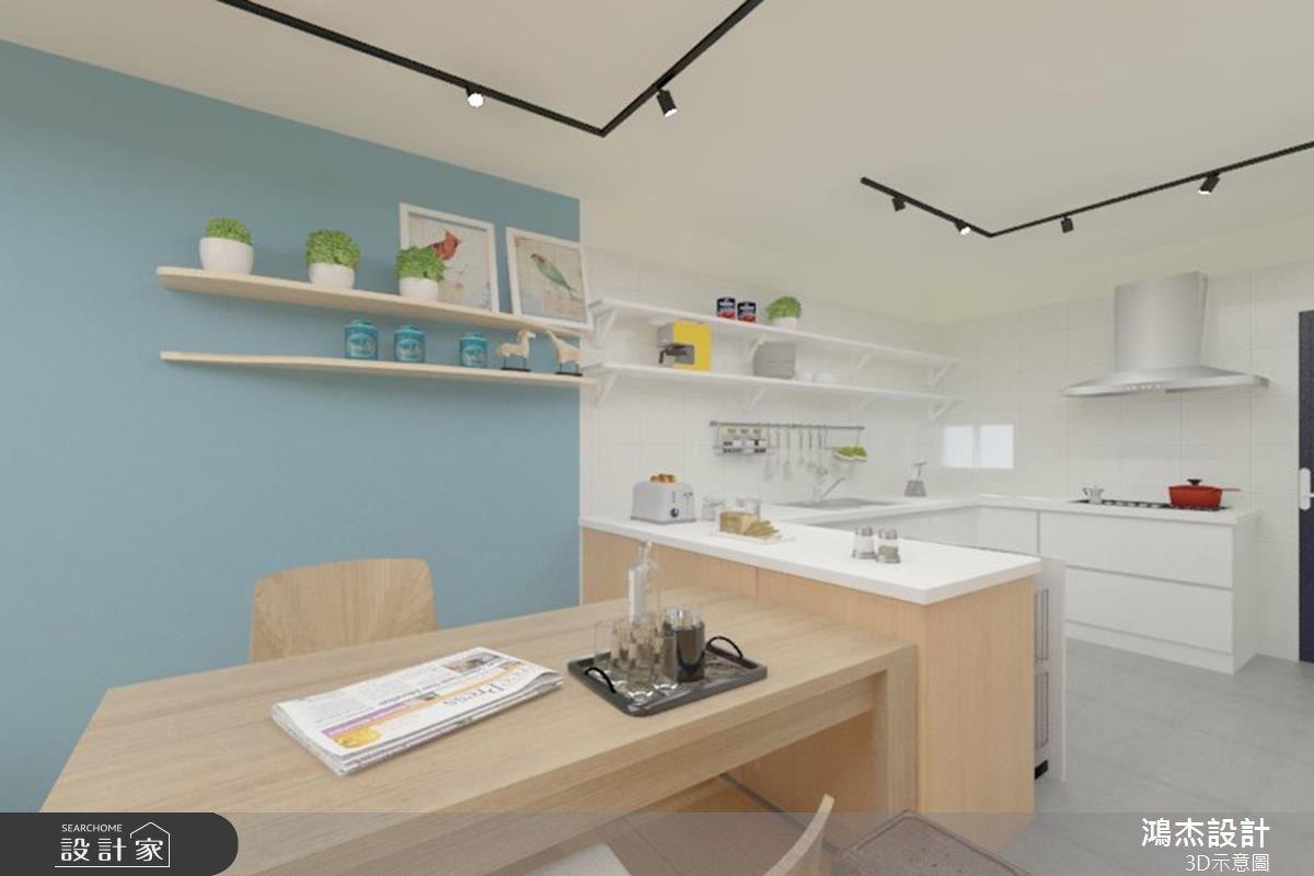 38坪老屋(16~30年)_北歐風餐廳廚房吧檯案例圖片_鴻杰室內設計_鴻杰_08之6
