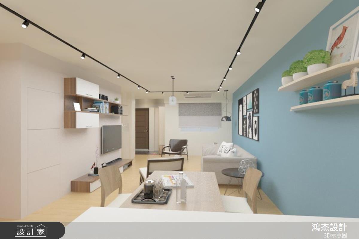 38坪老屋(16~30年)_北歐風客廳餐廳吧檯案例圖片_鴻杰室內設計_鴻杰_08之8