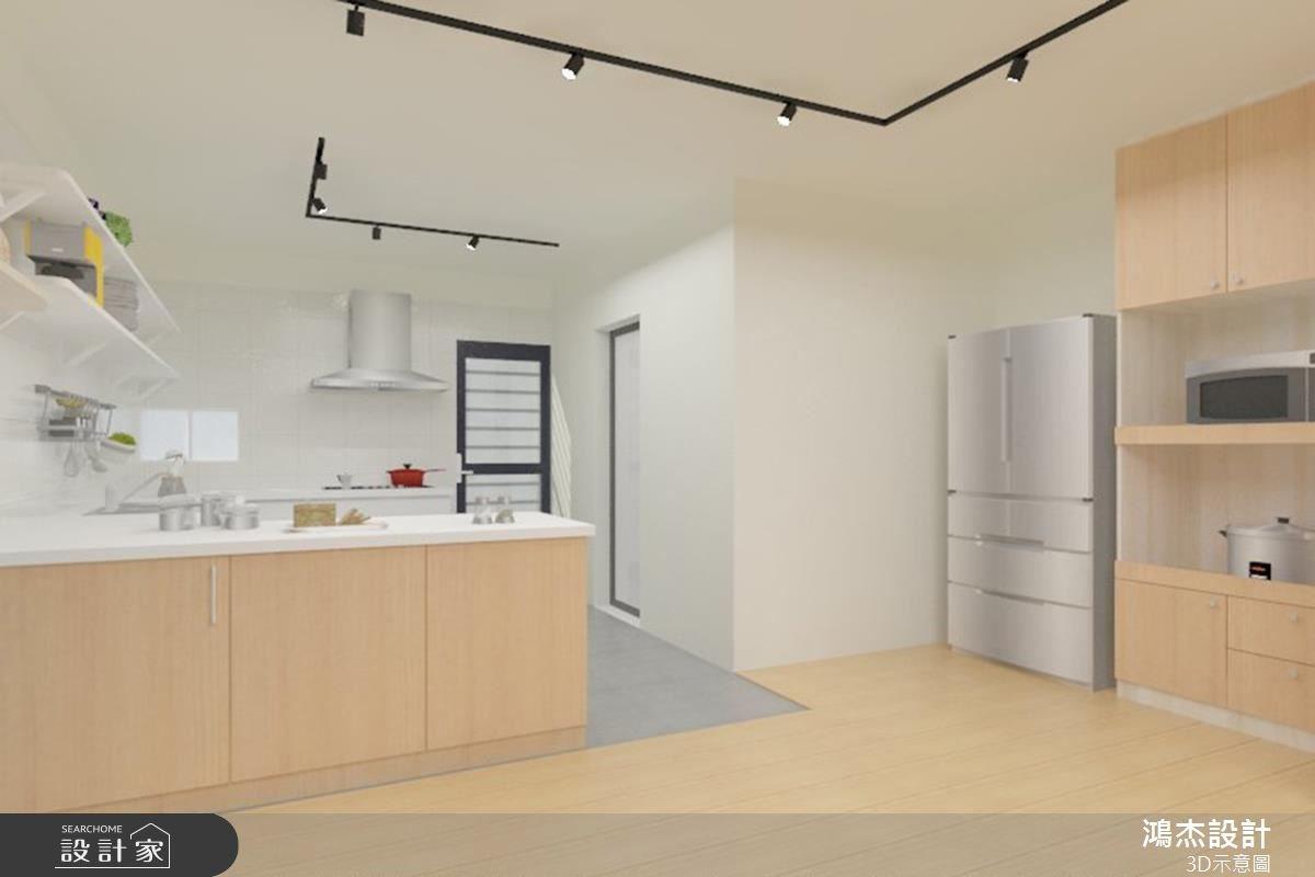 38坪老屋(16~30年)_北歐風廚房吧檯案例圖片_鴻杰室內設計_鴻杰_08之9