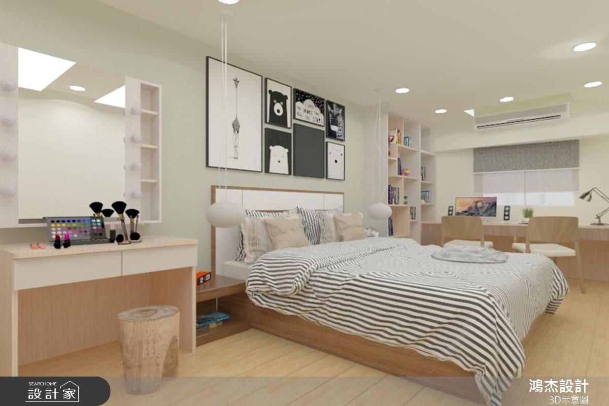 38坪老屋(16~30年)_北歐風臥室案例圖片_鴻杰室內設計_鴻杰_08之13