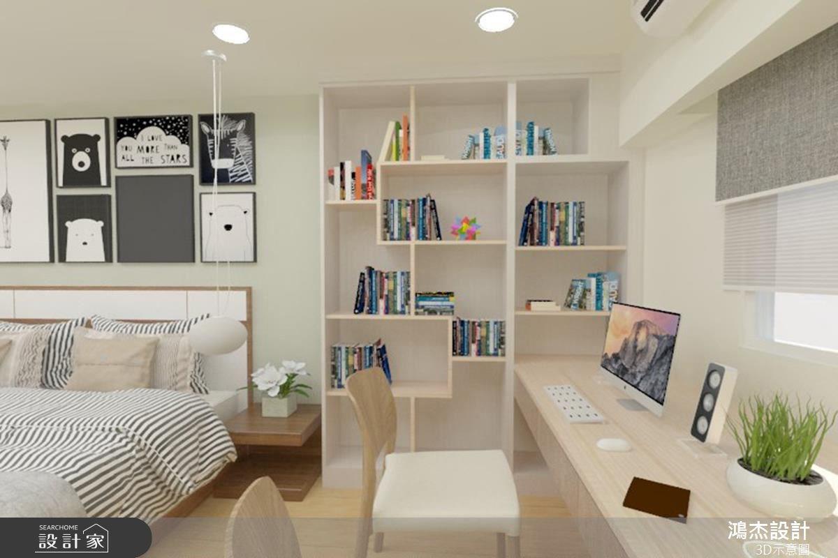 38坪老屋(16~30年)_北歐風臥室案例圖片_鴻杰室內設計_鴻杰_08之14