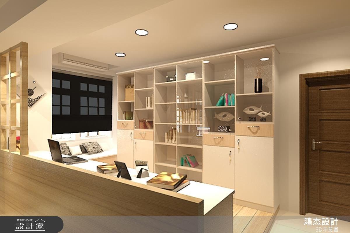 54坪老屋(16~30年)_混搭風書房案例圖片_鴻杰室內設計_鴻杰_09之3