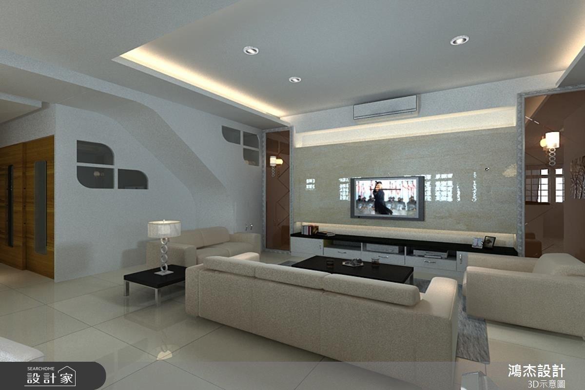 68坪新成屋(5年以下)_奢華風客廳案例圖片_鴻杰室內設計_鴻杰_10之1