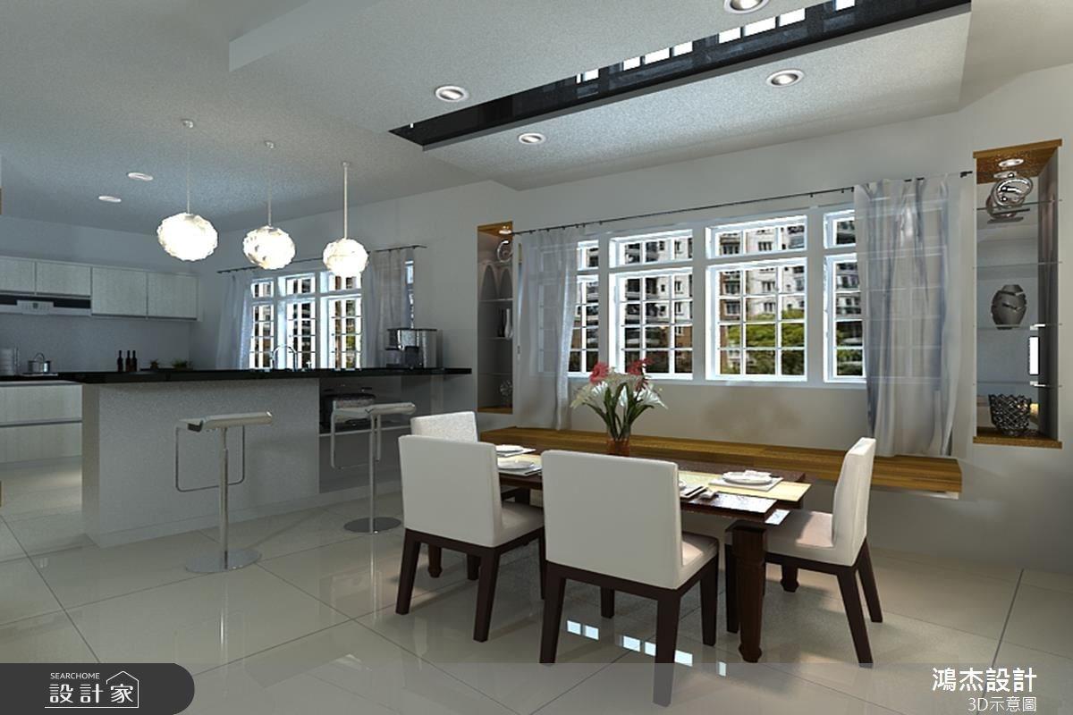 68坪新成屋(5年以下)_奢華風餐廳廚房吧檯案例圖片_鴻杰室內設計_鴻杰_10之3