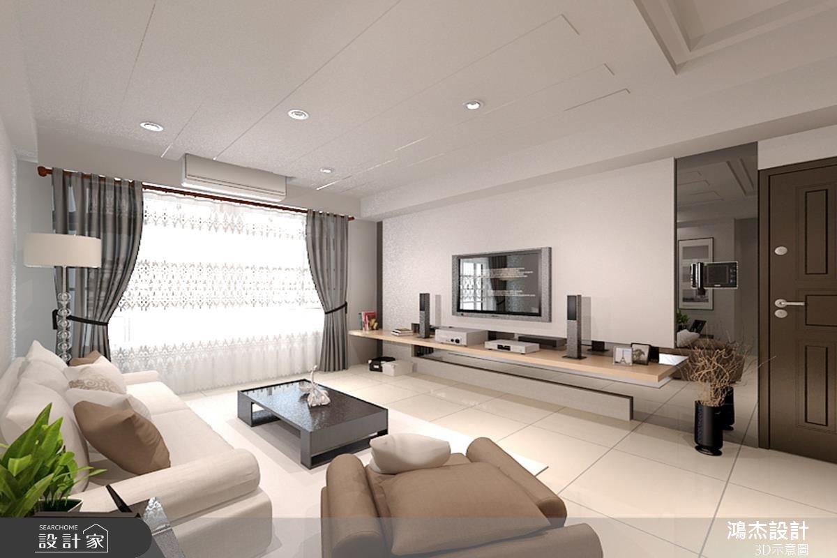 32坪新成屋(5年以下)_現代風客廳案例圖片_鴻杰室內設計_鴻杰_11之1