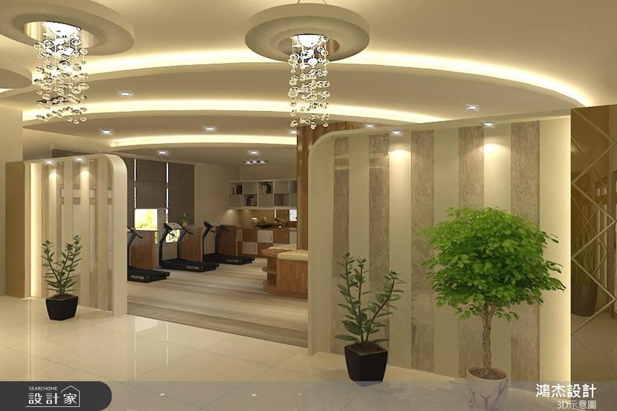68坪新成屋(5年以下)_休閒風案例圖片_鴻杰室內設計_鴻杰_12之2