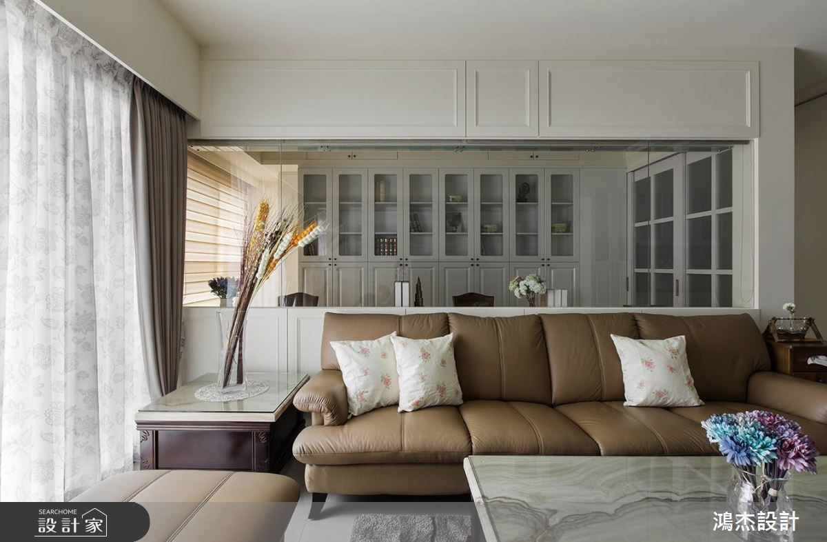 33坪新成屋(5年以下)_混搭風客廳書房案例圖片_鴻杰室內設計_鴻杰_13之5