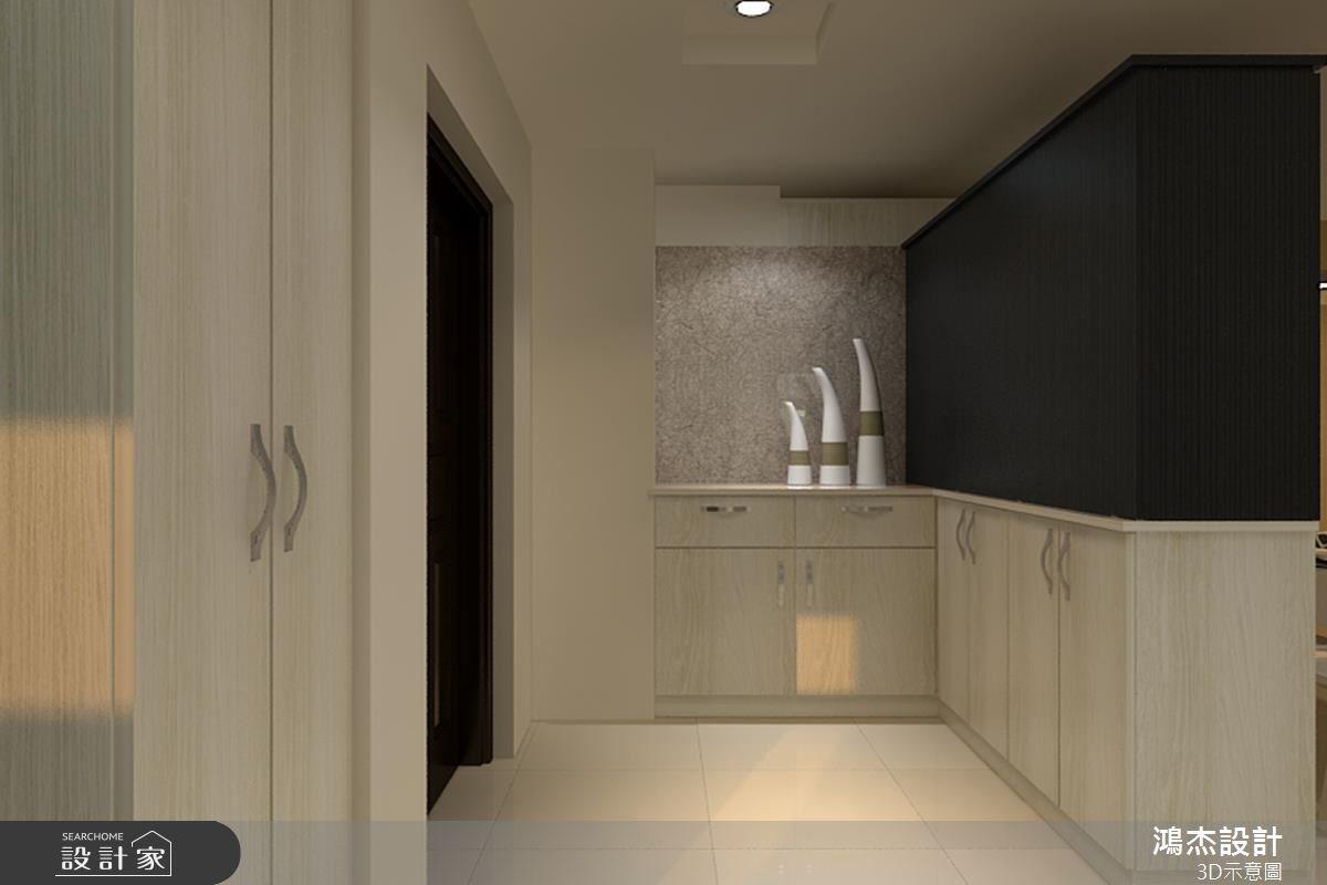 42坪新成屋(5年以下)_混搭風玄關走廊案例圖片_鴻杰室內設計_鴻杰_14之1