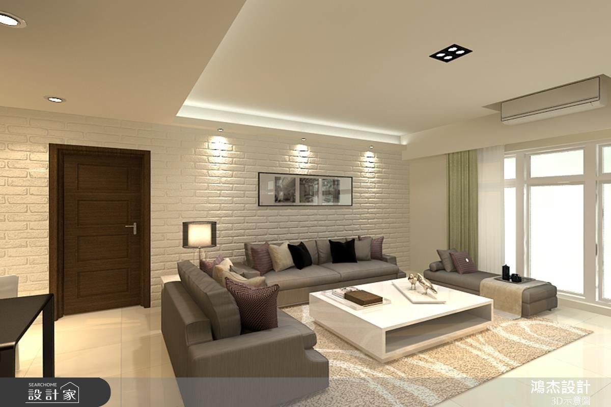 42坪新成屋(5年以下)_混搭風客廳案例圖片_鴻杰室內設計_鴻杰_14之2