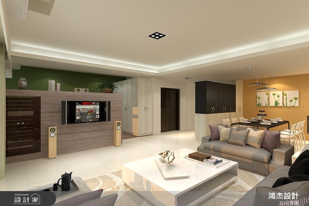 42坪新成屋(5年以下)_混搭風客廳餐廳案例圖片_鴻杰室內設計_鴻杰_14之3