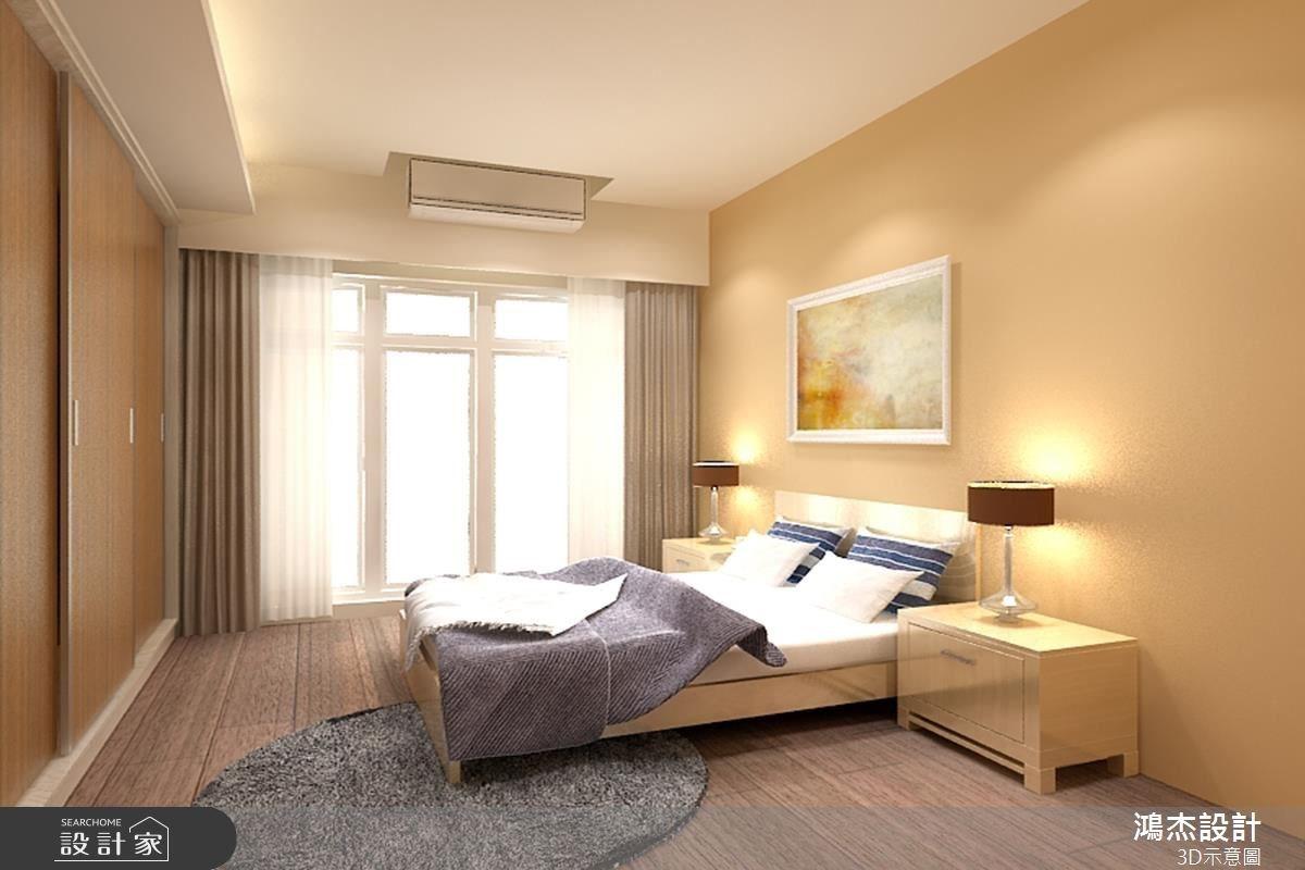 42坪新成屋(5年以下)_混搭風臥室案例圖片_鴻杰室內設計_鴻杰_14之5