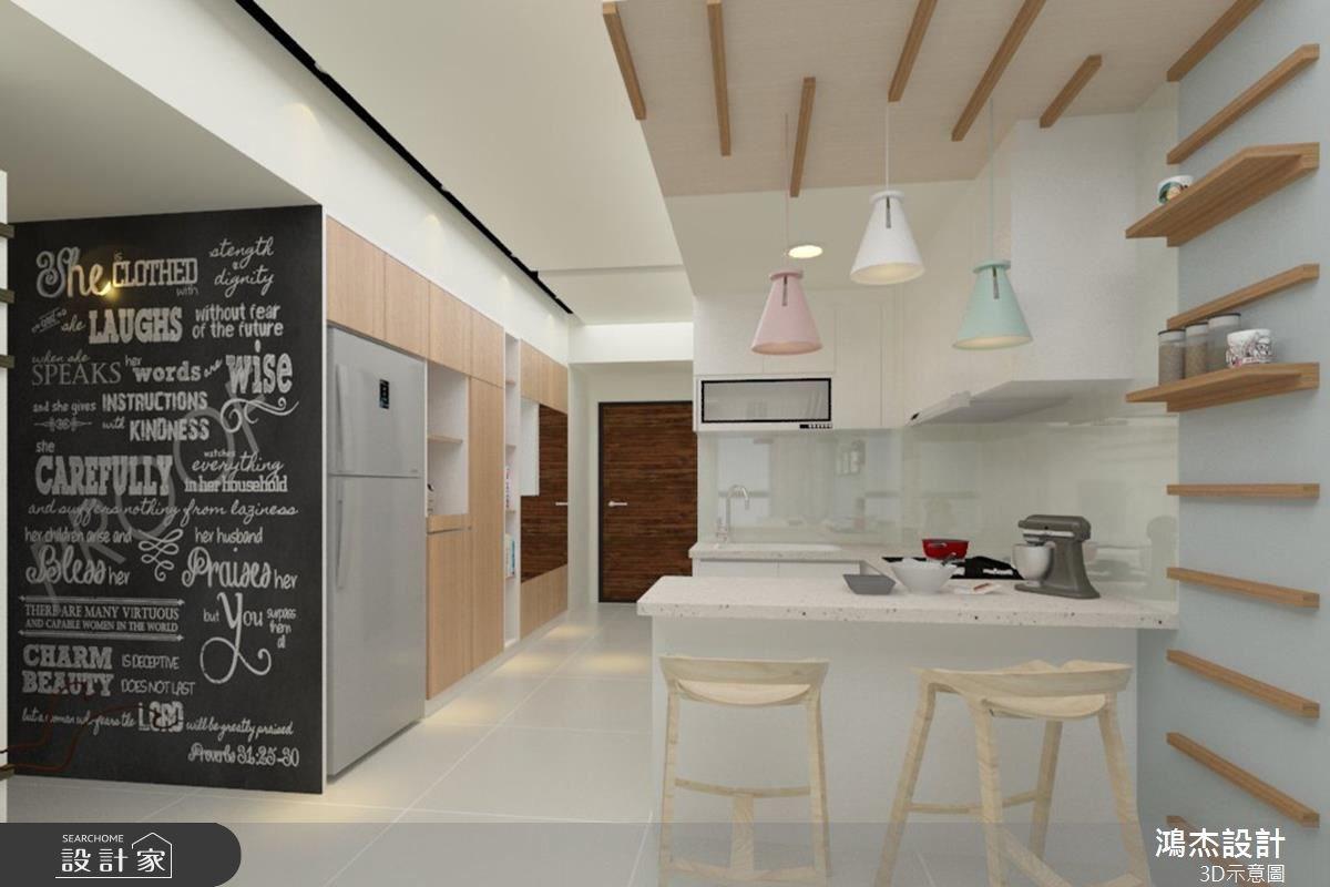 25坪新成屋(5年以下)_混搭風廚房吧檯走廊案例圖片_鴻杰室內設計_鴻杰_15之3