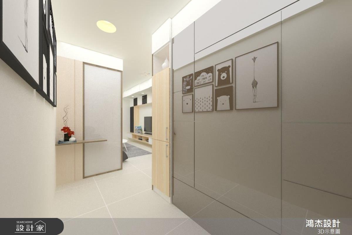 28坪新成屋(5年以下)_現代風玄關案例圖片_鴻杰室內設計_鴻杰_16之1