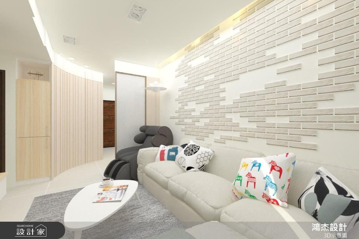 28坪新成屋(5年以下)_現代風客廳案例圖片_鴻杰室內設計_鴻杰_16之2