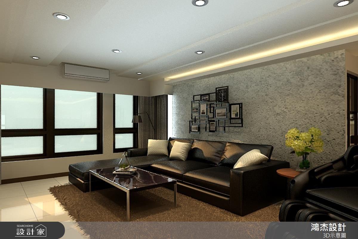 38坪中古屋(5~15年)_混搭風客廳案例圖片_鴻杰室內設計_鴻杰_18之4