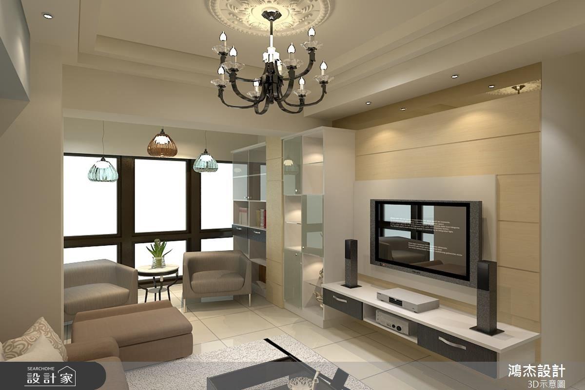 25坪新成屋(5年以下)_現代風客廳案例圖片_鴻杰室內設計_鴻杰_19之3
