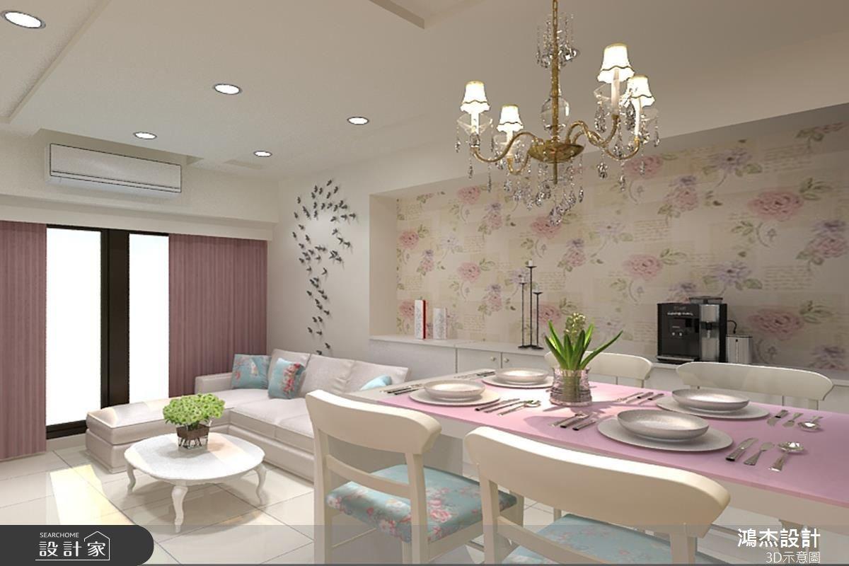 22坪新成屋(5年以下)_現代風客廳餐廳案例圖片_鴻杰室內設計_鴻杰_20之2