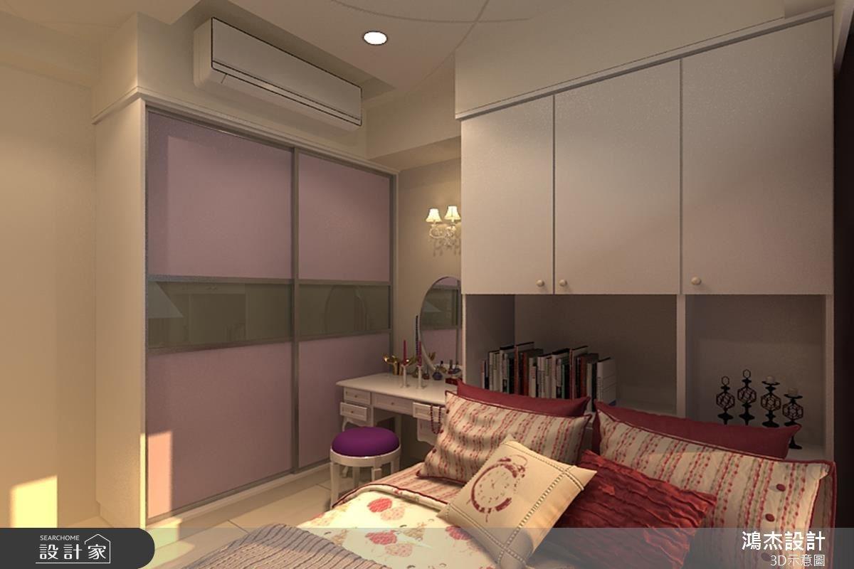 22坪新成屋(5年以下)_現代風臥室案例圖片_鴻杰室內設計_鴻杰_20之3