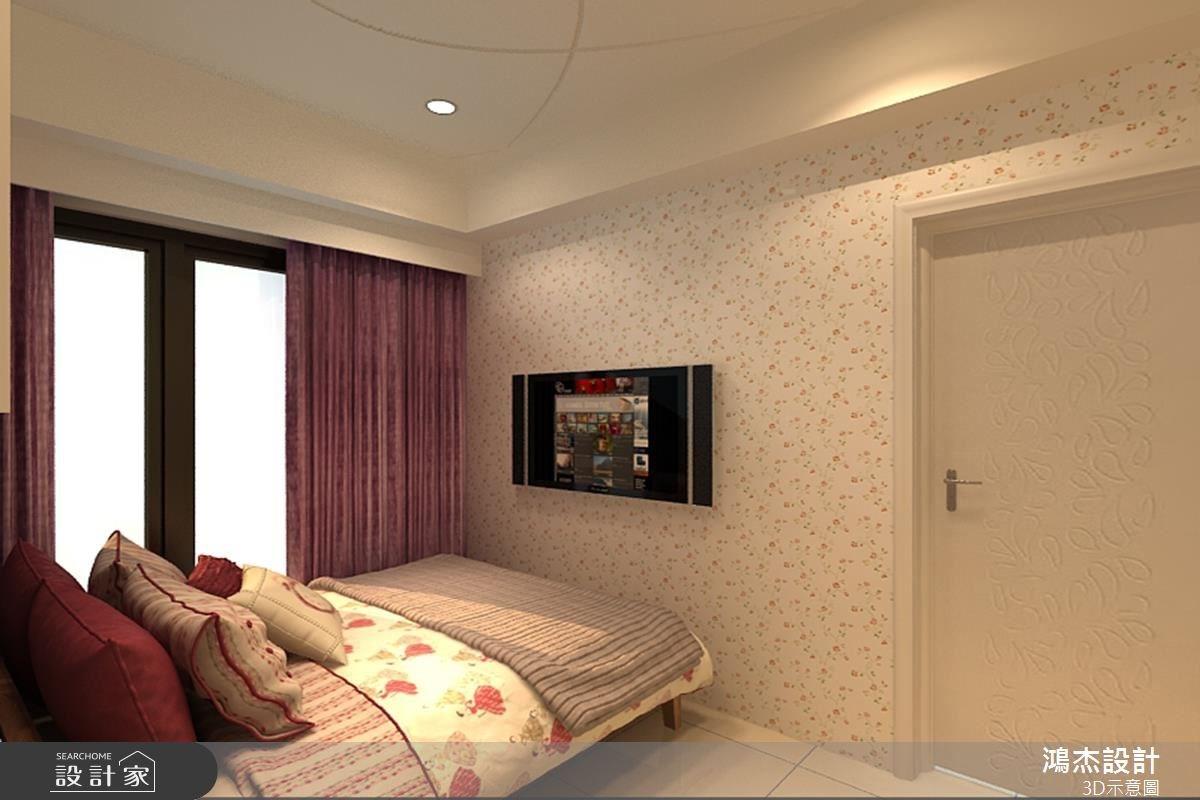 22坪新成屋(5年以下)_現代風臥室案例圖片_鴻杰室內設計_鴻杰_20之4