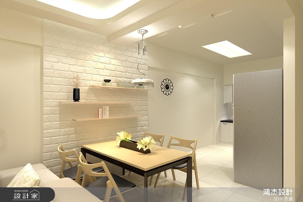 22坪新成屋(5年以下)_現代風餐廳案例圖片_鴻杰室內設計_鴻杰_21之2