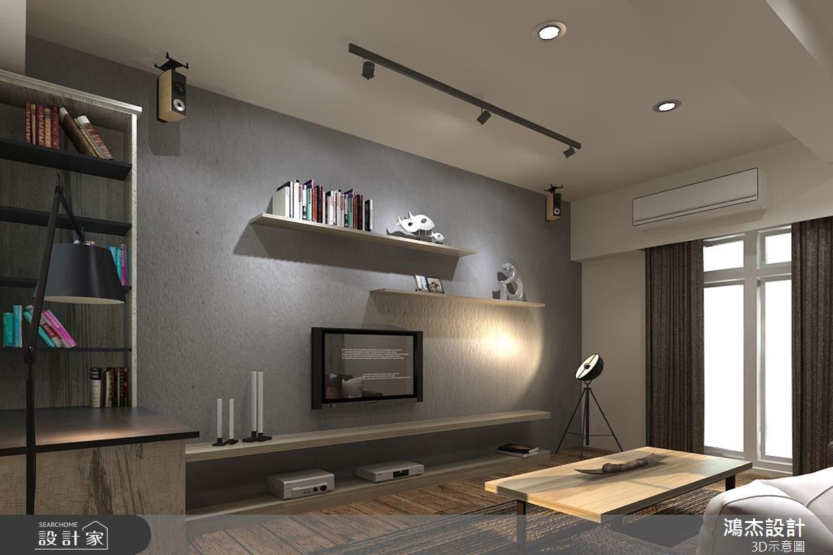 22坪新成屋(5年以下)_現代風客廳案例圖片_鴻杰室內設計_鴻杰_21之6