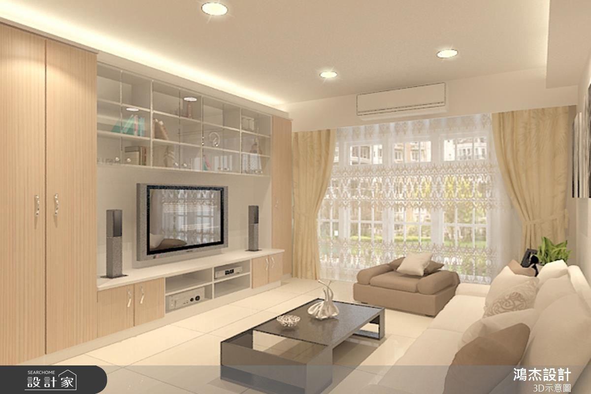 28坪新成屋(5年以下)_現代風客廳案例圖片_鴻杰室內設計_鴻杰_22之1