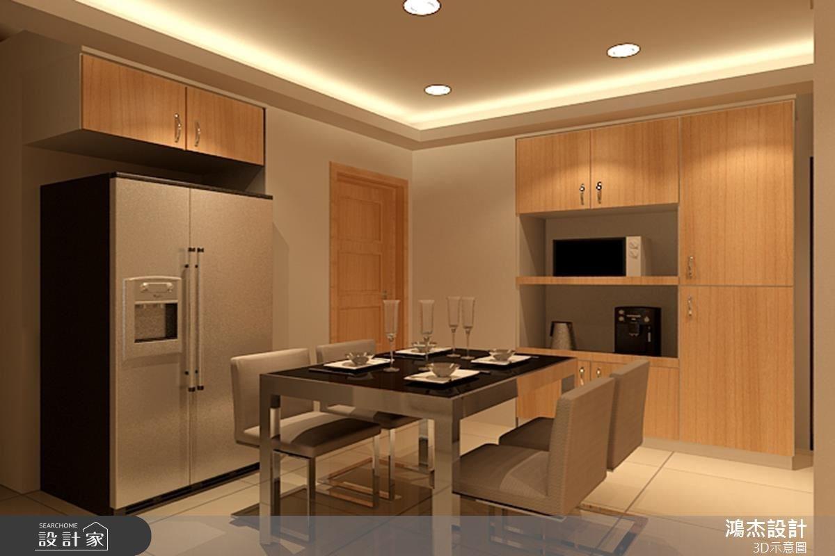 28坪新成屋(5年以下)_現代風餐廳案例圖片_鴻杰室內設計_鴻杰_22之2