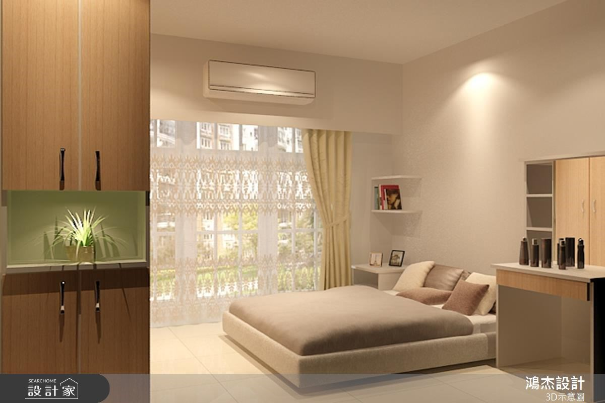 28坪新成屋(5年以下)_現代風臥室案例圖片_鴻杰室內設計_鴻杰_22之3