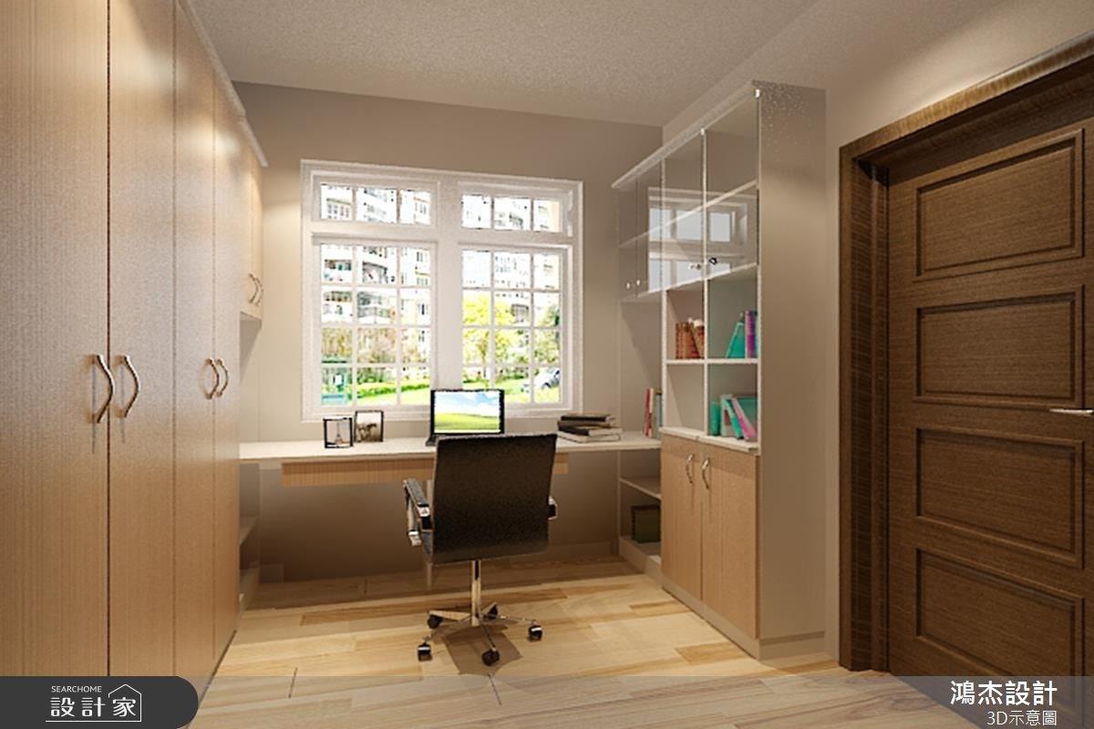 28坪新成屋(5年以下)_現代風書房案例圖片_鴻杰室內設計_鴻杰_22之6
