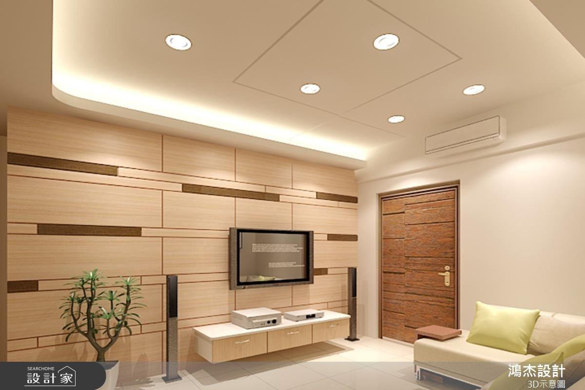 23坪新成屋(5年以下)_簡約風玄關客廳案例圖片_鴻杰室內設計_鴻杰_23之1
