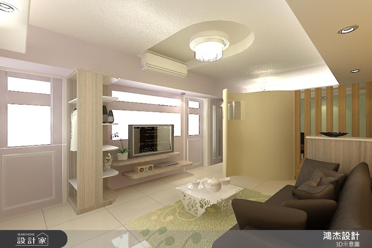 23坪新成屋(5年以下)_簡約風客廳案例圖片_鴻杰室內設計_鴻杰_23之2
