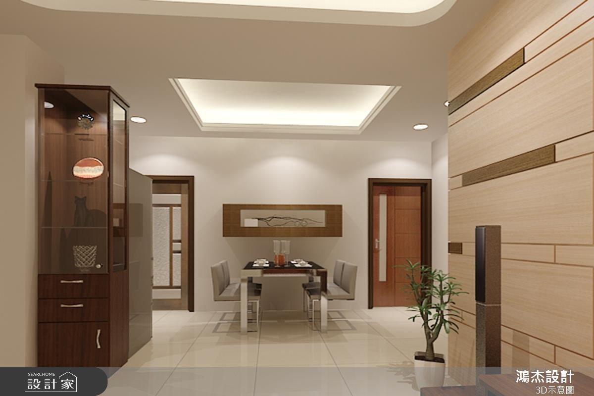 23坪新成屋(5年以下)_簡約風餐廳案例圖片_鴻杰室內設計_鴻杰_23之3