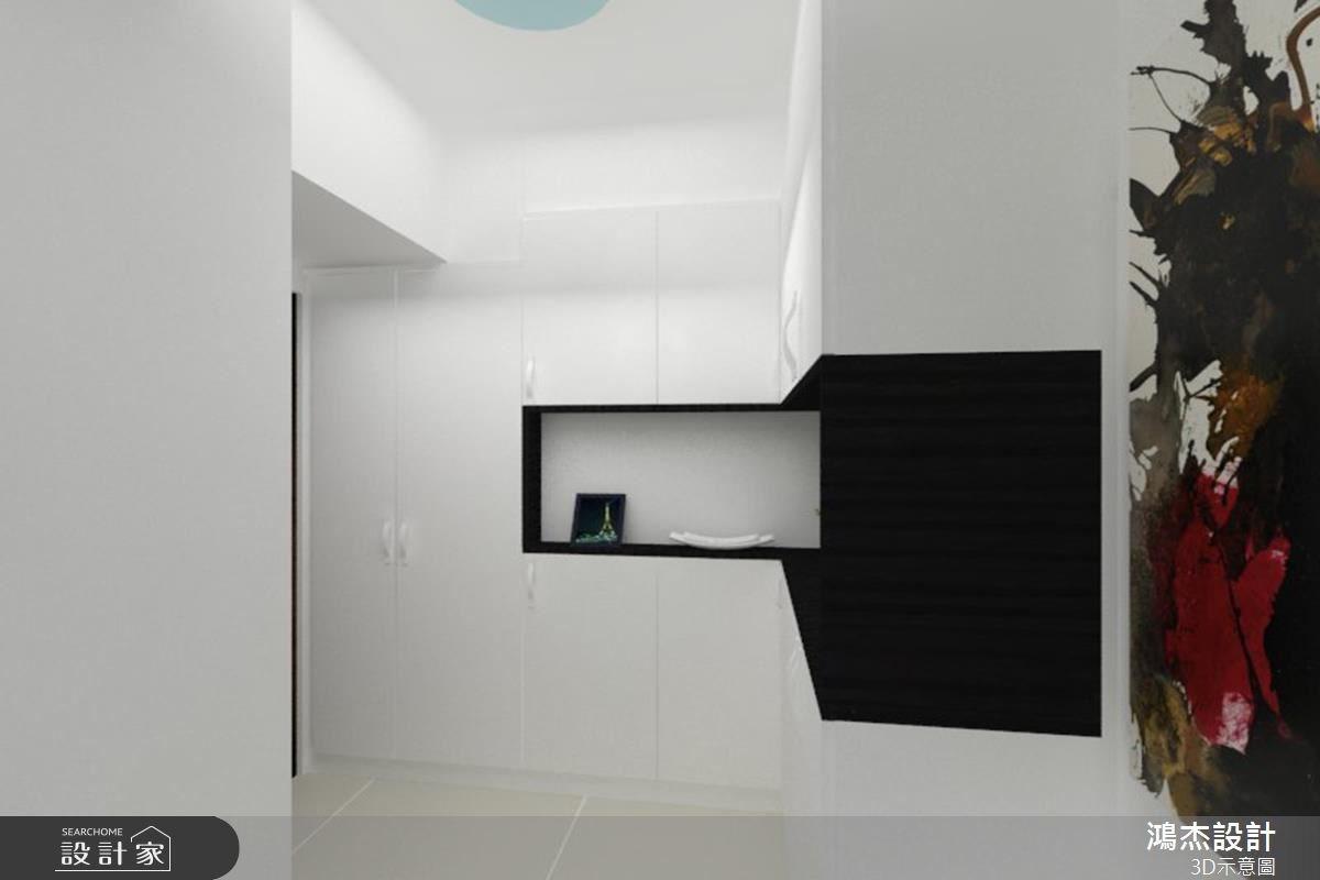 30坪新成屋(5年以下)_現代風玄關案例圖片_鴻杰室內設計_鴻杰_26之1