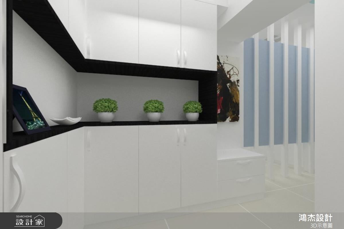 30坪新成屋(5年以下)_現代風玄關案例圖片_鴻杰室內設計_鴻杰_26之2