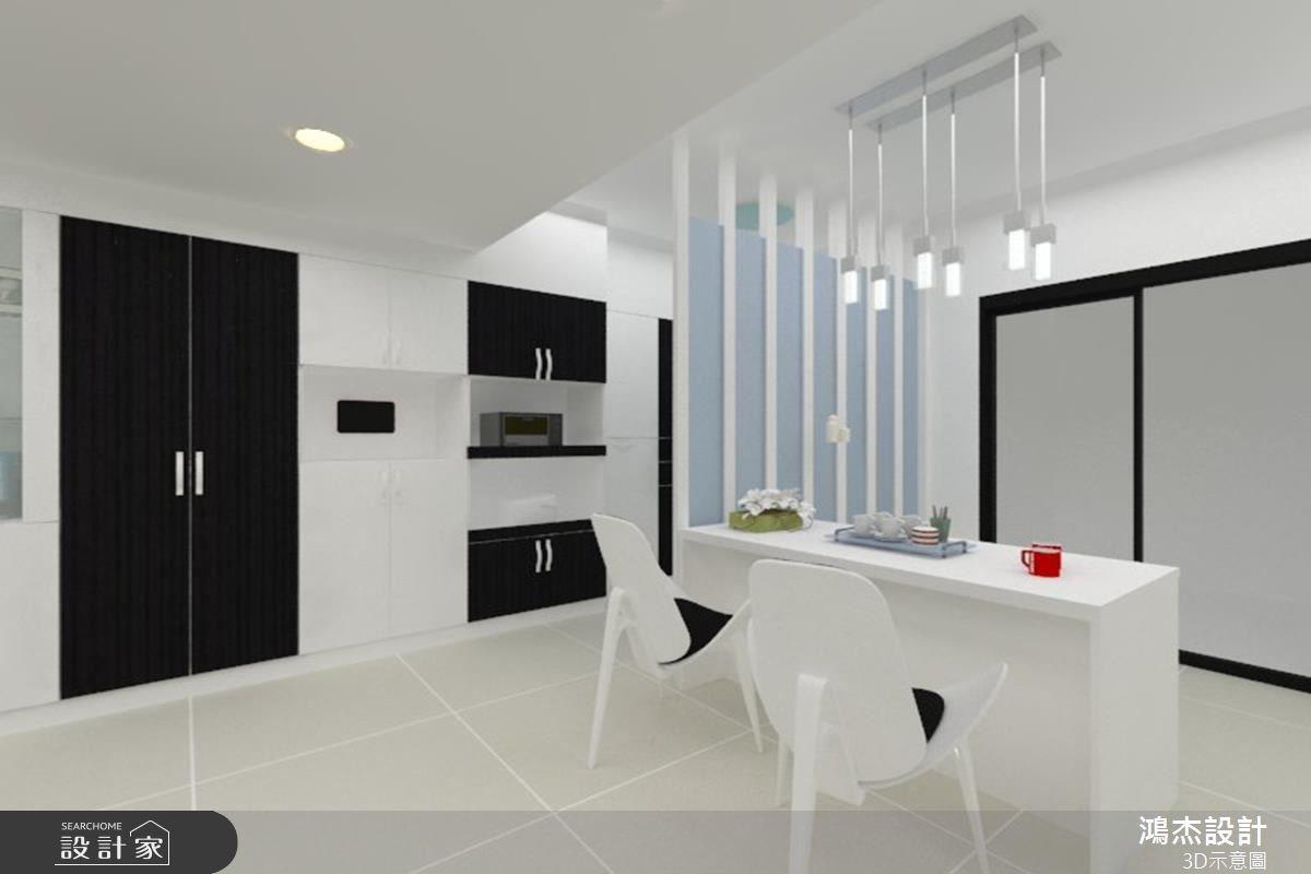 30坪新成屋(5年以下)_現代風餐廳案例圖片_鴻杰室內設計_鴻杰_26之4