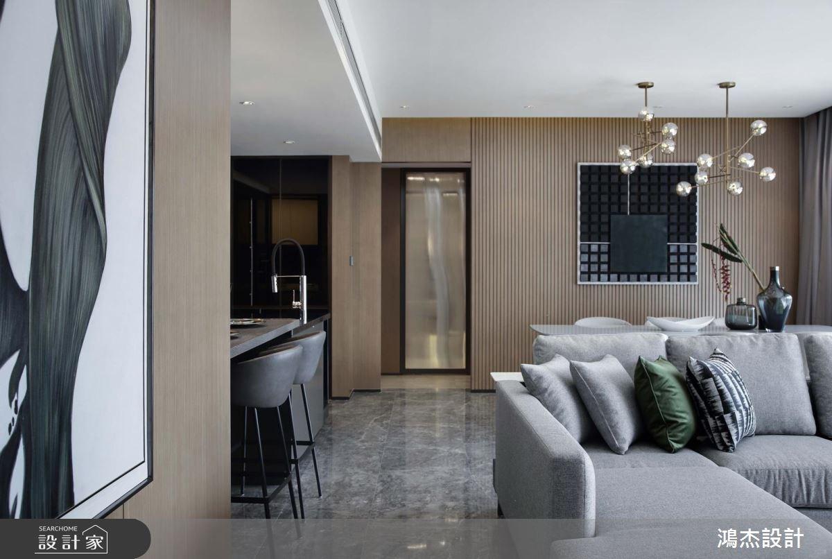 63坪新成屋(5年以下)_現代風客廳餐廳吧檯案例圖片_鴻杰室內設計_鴻杰_27之2