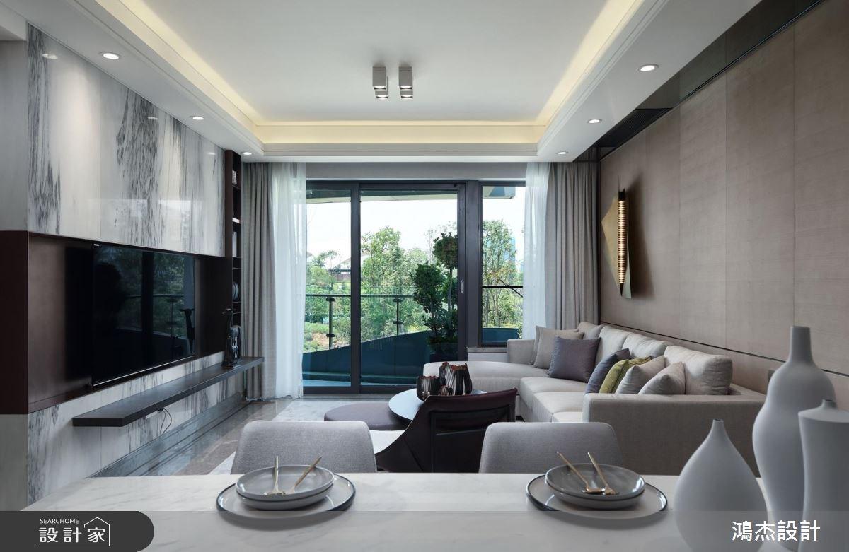 63坪新成屋(5年以下)_現代風客廳餐廳案例圖片_鴻杰室內設計_鴻杰_27之3