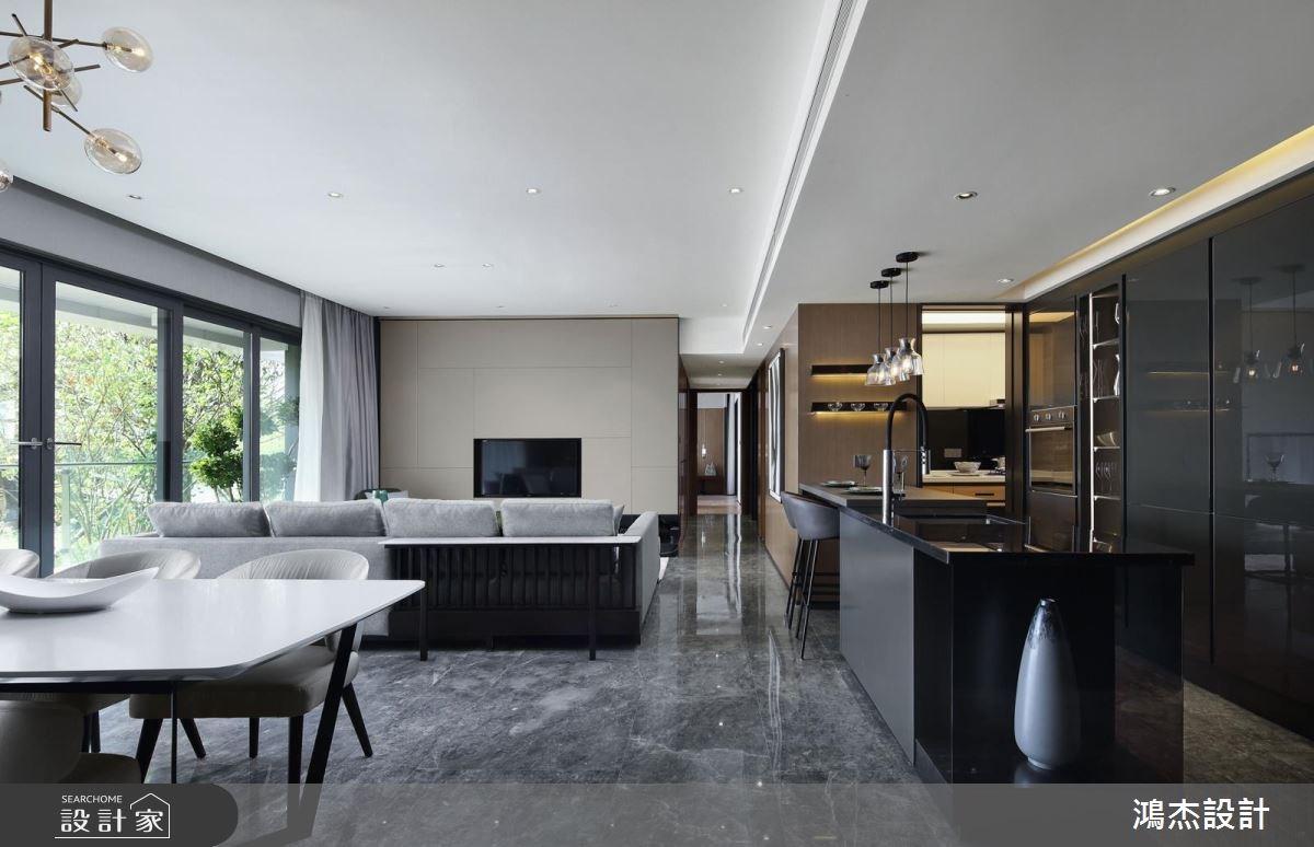 63坪新成屋(5年以下)_現代風客廳餐廳吧檯案例圖片_鴻杰室內設計_鴻杰_27之5