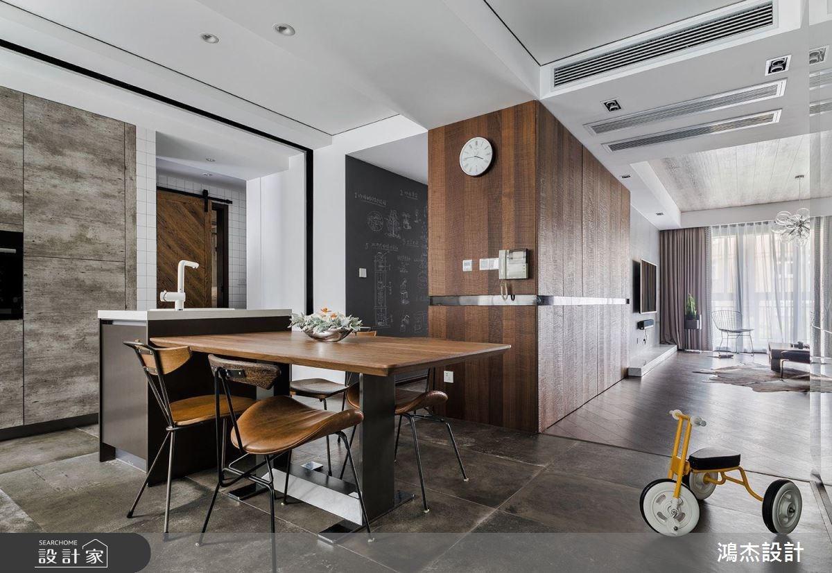 70坪新成屋(5年以下)_工業風餐廳吧檯案例圖片_鴻杰室內設計_鴻杰_28之4