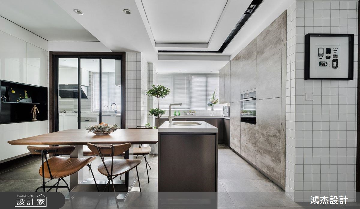 70坪新成屋(5年以下)_工業風餐廳廚房吧檯案例圖片_鴻杰室內設計_鴻杰_28之5