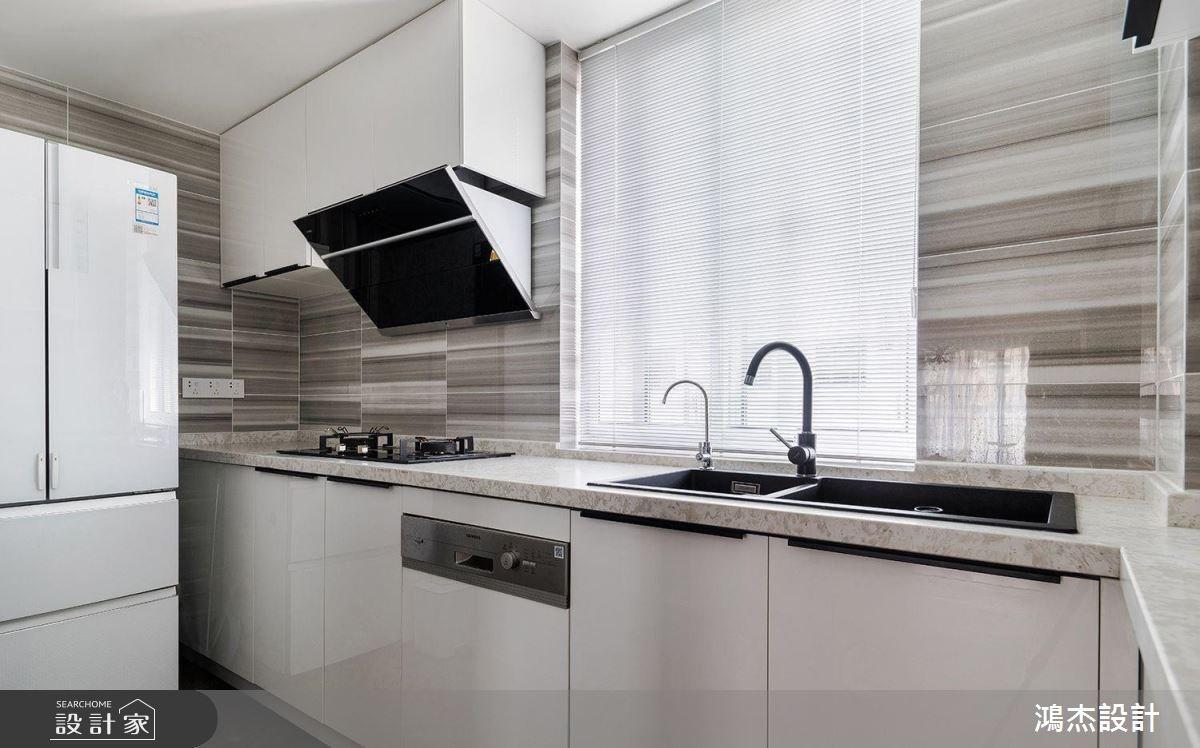 70坪新成屋(5年以下)_工業風廚房案例圖片_鴻杰室內設計_鴻杰_28之7