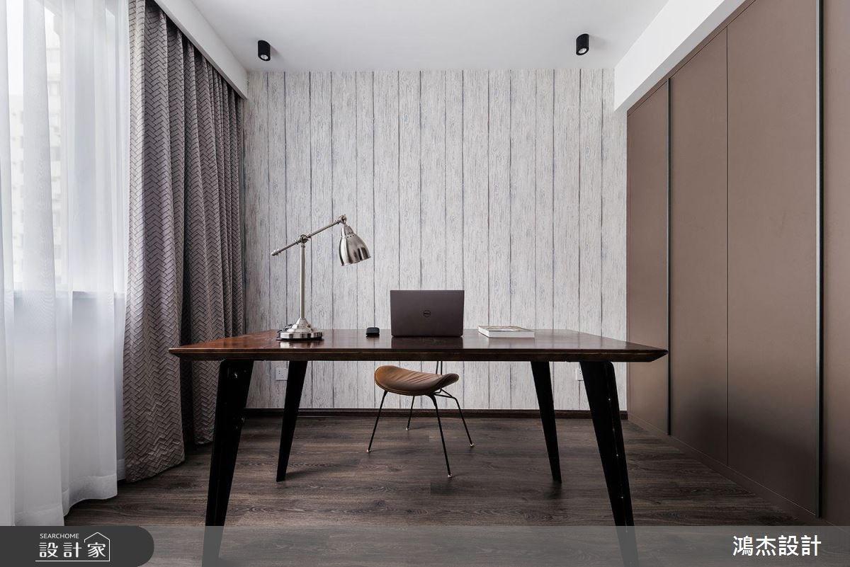70坪新成屋(5年以下)_工業風書房案例圖片_鴻杰室內設計_鴻杰_28之14