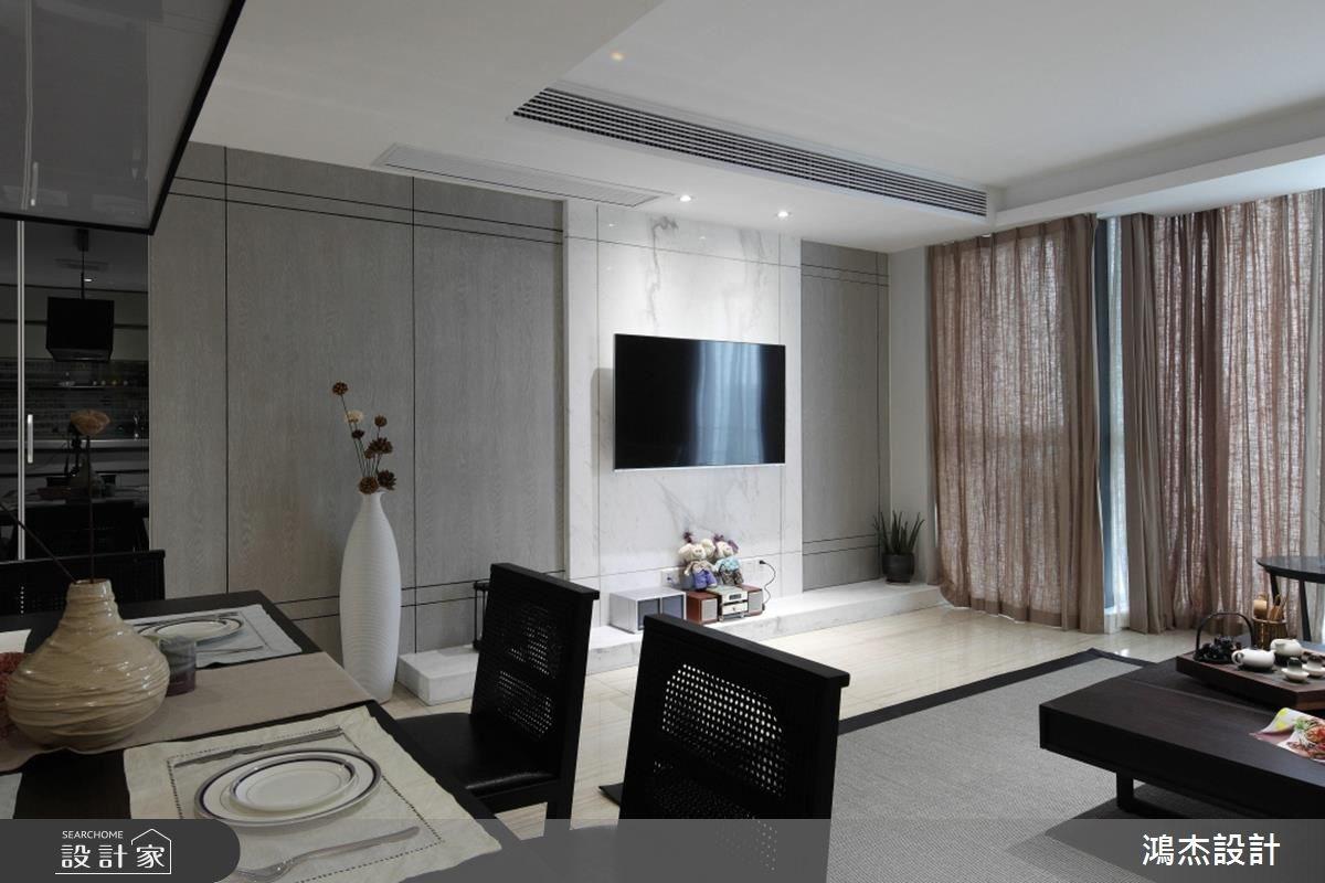 68坪新成屋(5年以下)_混搭風餐廳案例圖片_鴻杰室內設計_鴻杰_31之3