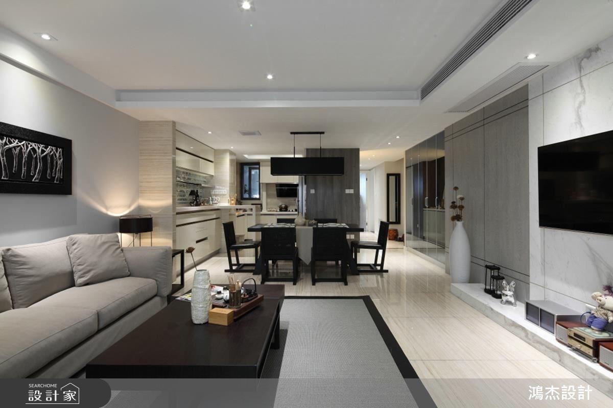 68坪新成屋(5年以下)_混搭風客廳案例圖片_鴻杰室內設計_鴻杰_31之4
