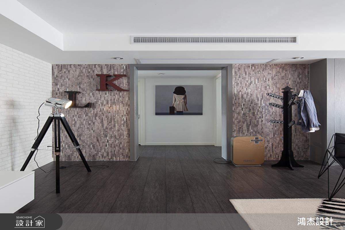 35坪新成屋(5年以下)_混搭風玄關案例圖片_鴻杰室內設計_鴻杰_32之1